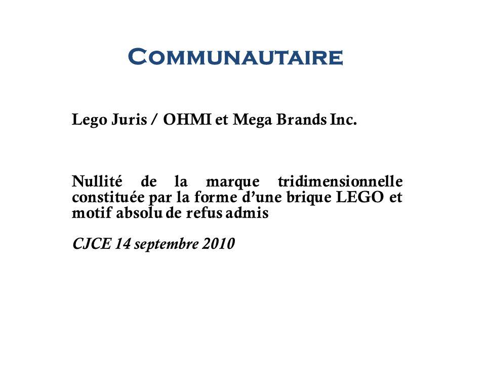 Communautaire Lego Juris / OHMI et Mega Brands Inc.