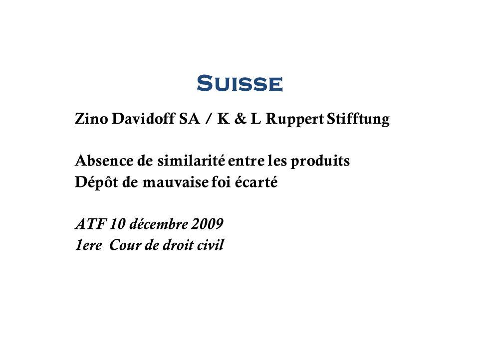 Suisse Zino Davidoff SA / K & L Ruppert Stifftung
