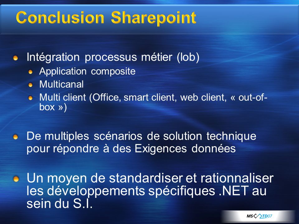 Conclusion Sharepoint