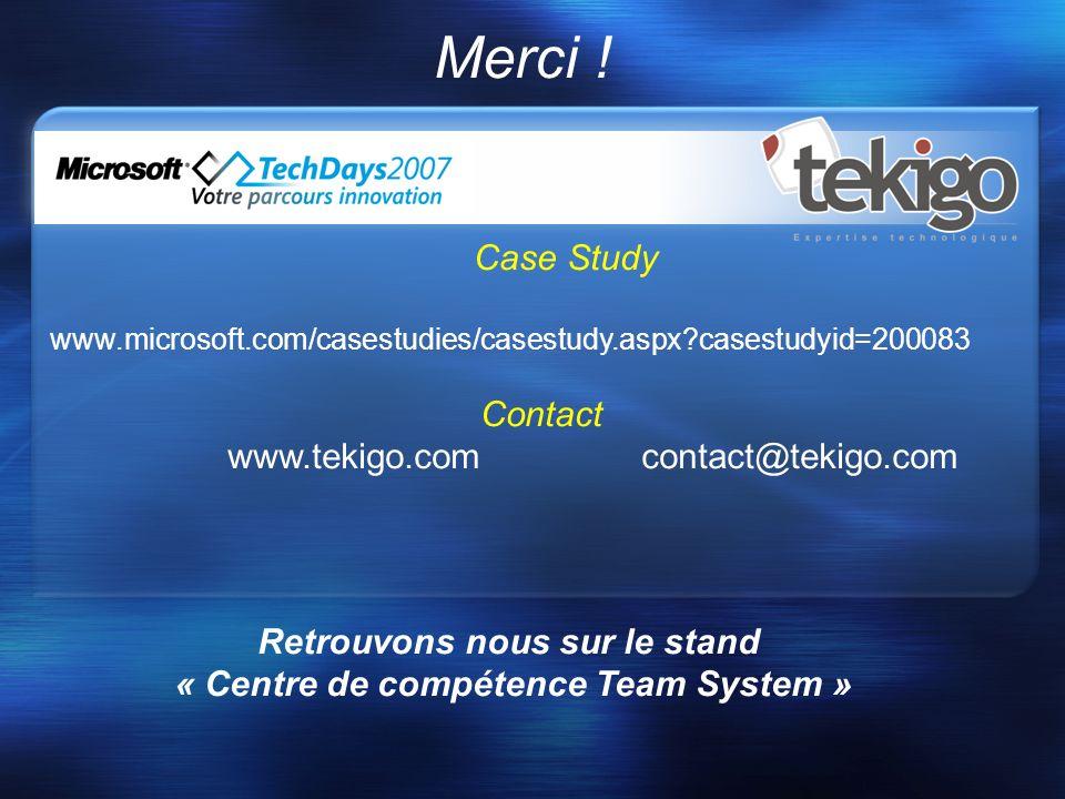 Retrouvons nous sur le stand « Centre de compétence Team System »