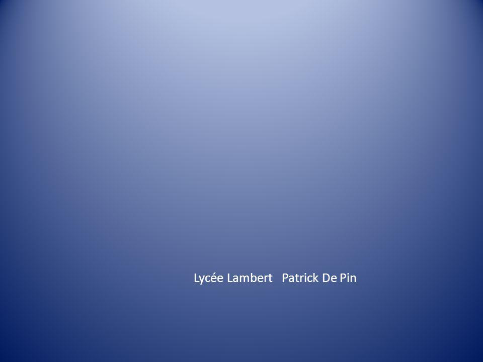 Lycée Lambert Patrick De Pin