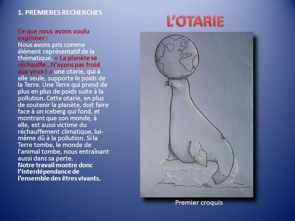 L'OTARIE 1. PREMIERES RECHERCHES Premier croquis