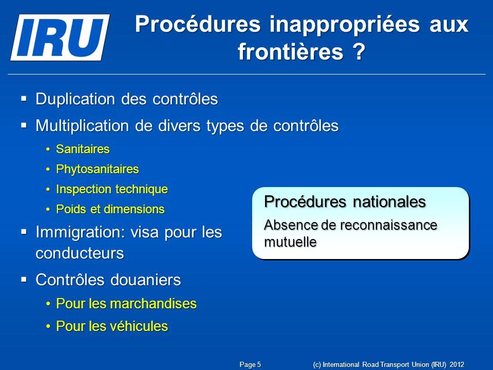 Procédures inappropriées aux frontières