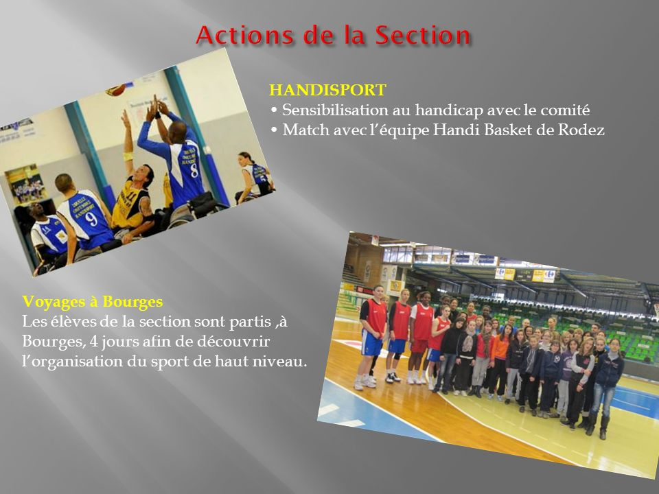 Actions de la Section HANDISPORT