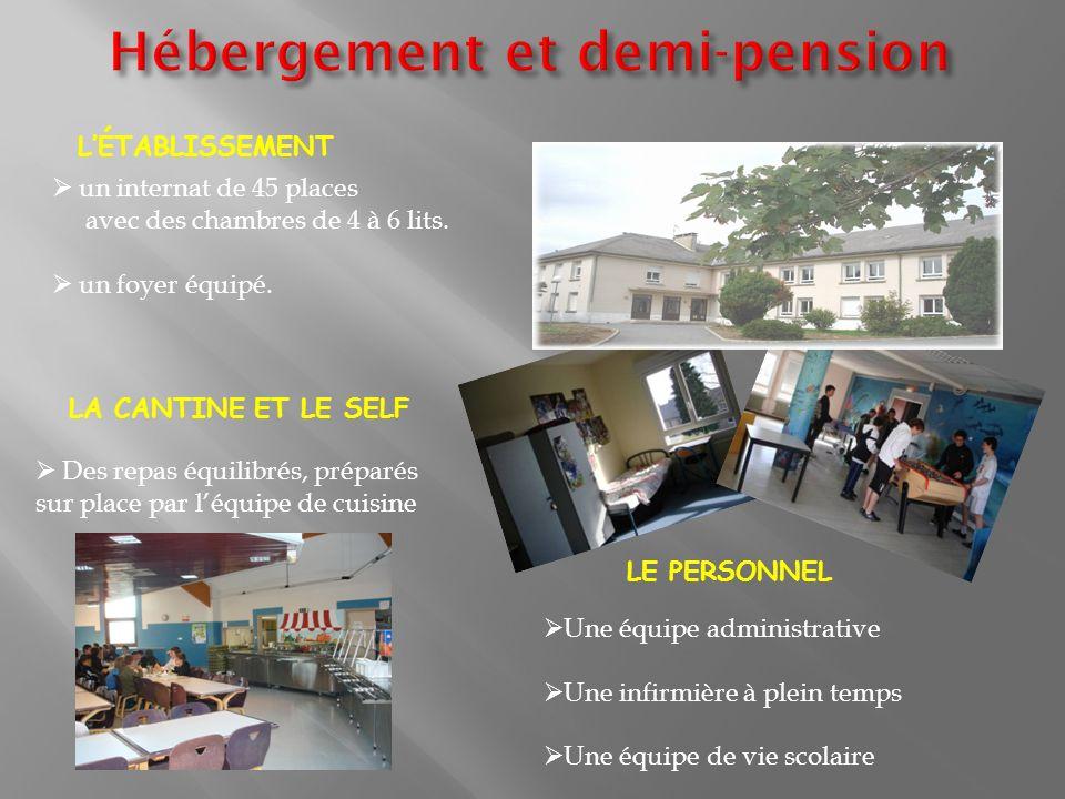 Hébergement et demi-pension