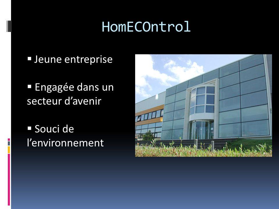 HomECOntrol Jeune entreprise Engagée dans un secteur d'avenir