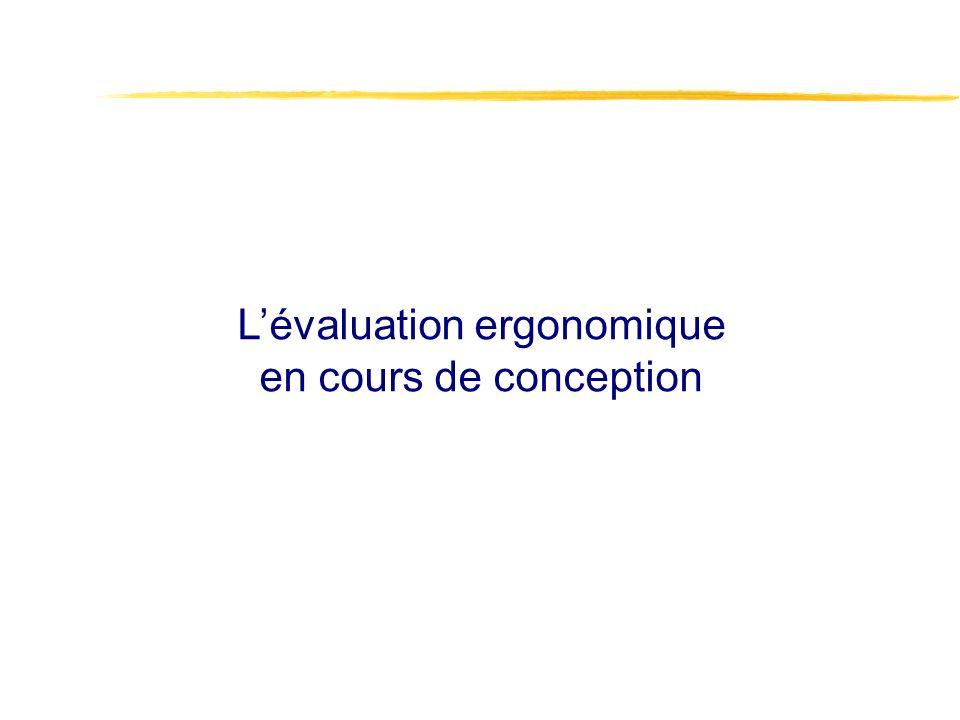 L'évaluation ergonomique