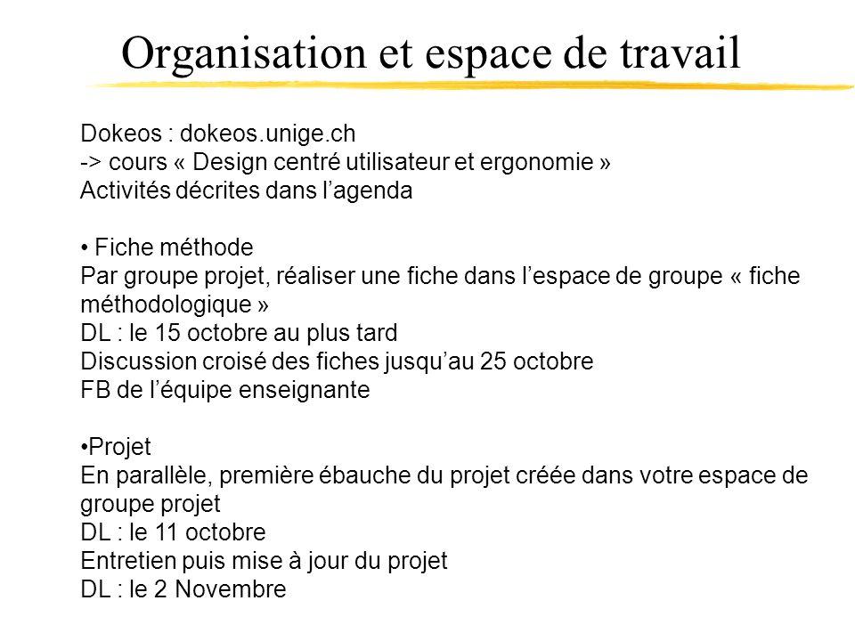 Organisation et espace de travail