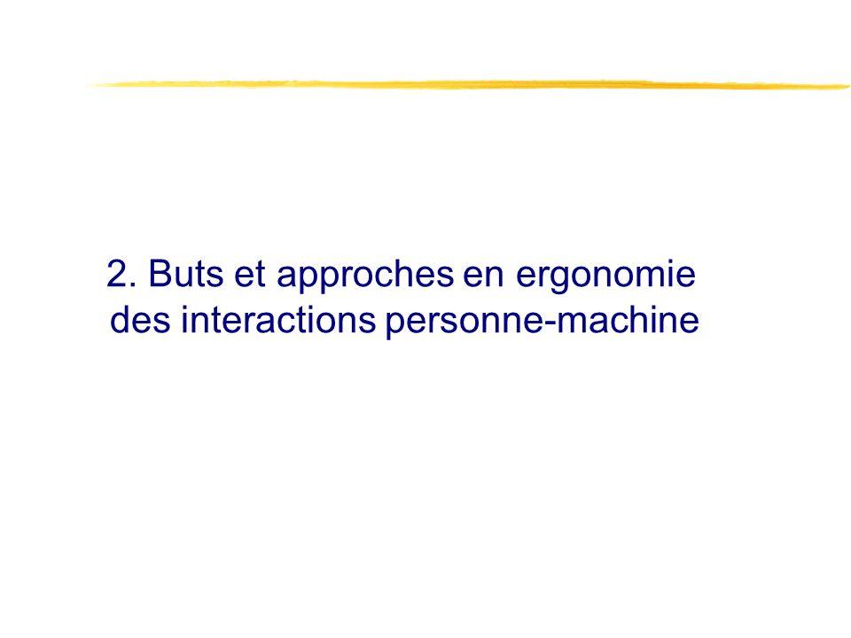 2. Buts et approches en ergonomie des interactions personne-machine