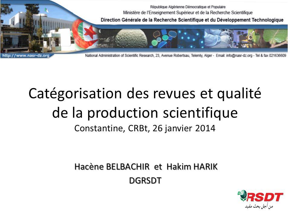 Hacène BELBACHIR et Hakim HARIK