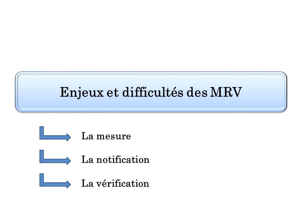 Enjeux et difficultés des MRV