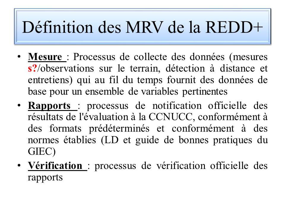 Définition des MRV de la REDD+