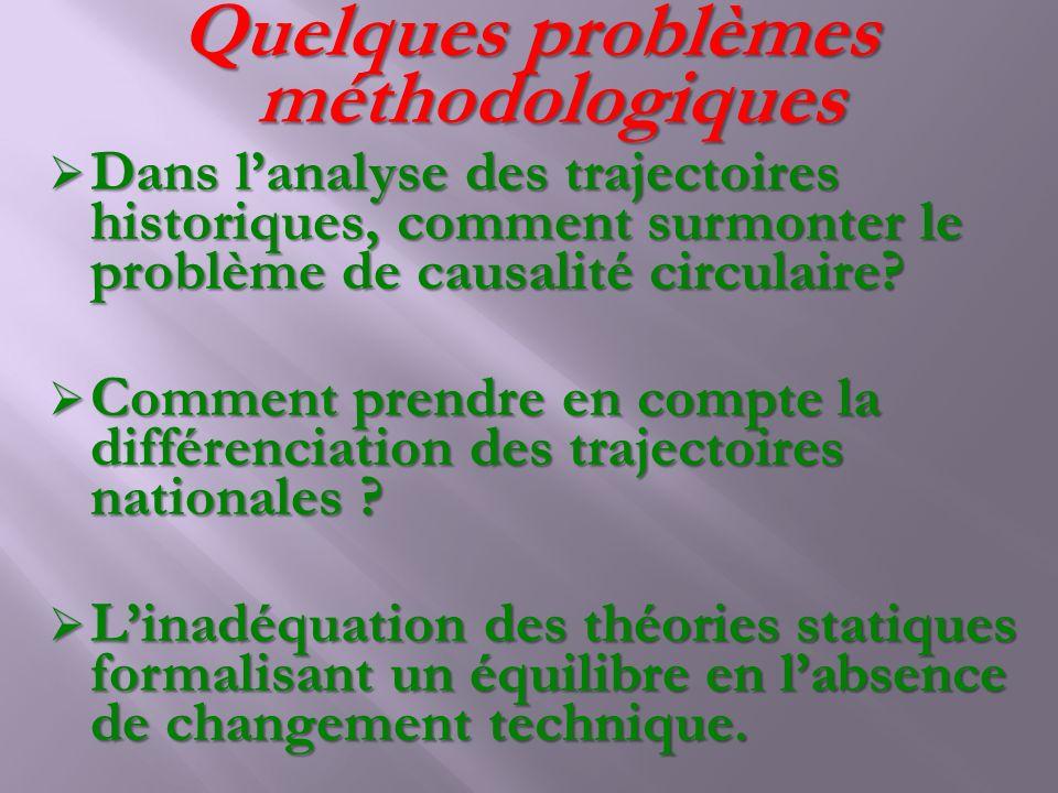 Quelques problèmes méthodologiques