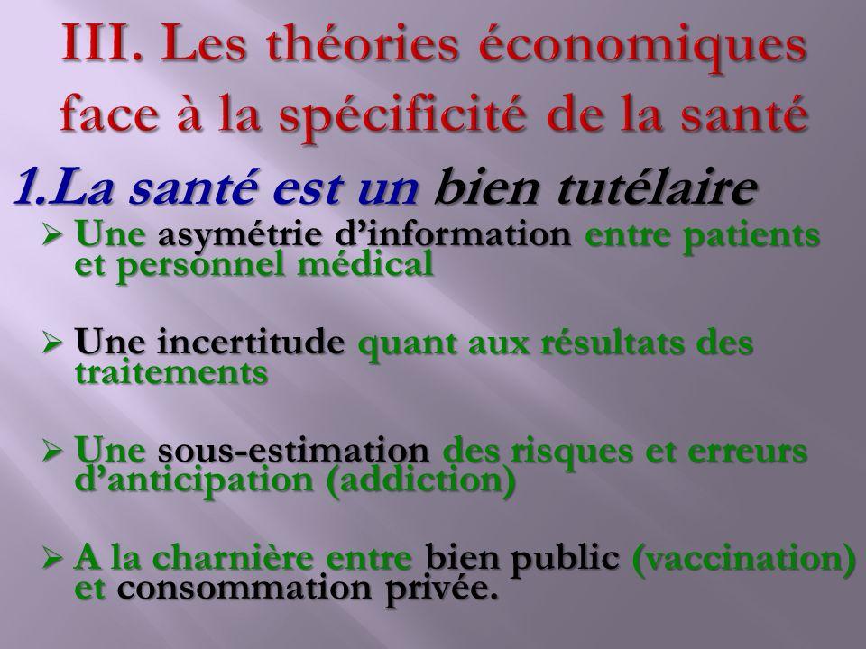 Les théories économiques face à la spécificité de la santé
