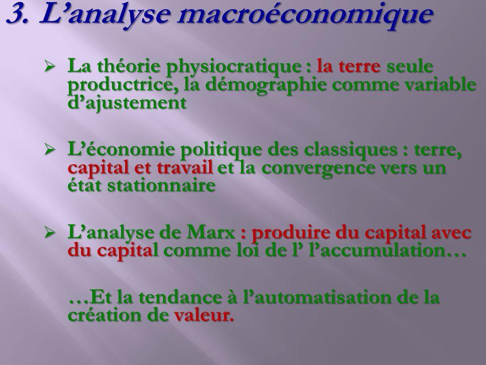 L'analyse macroéconomique