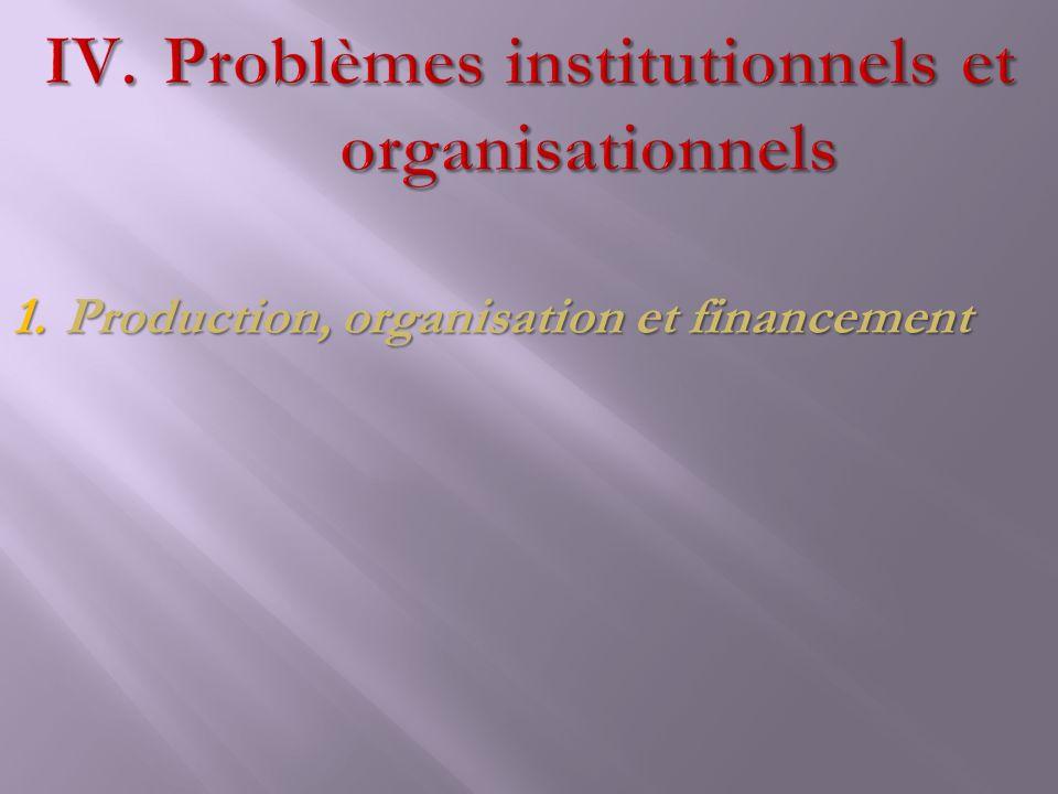 Problèmes institutionnels et organisationnels