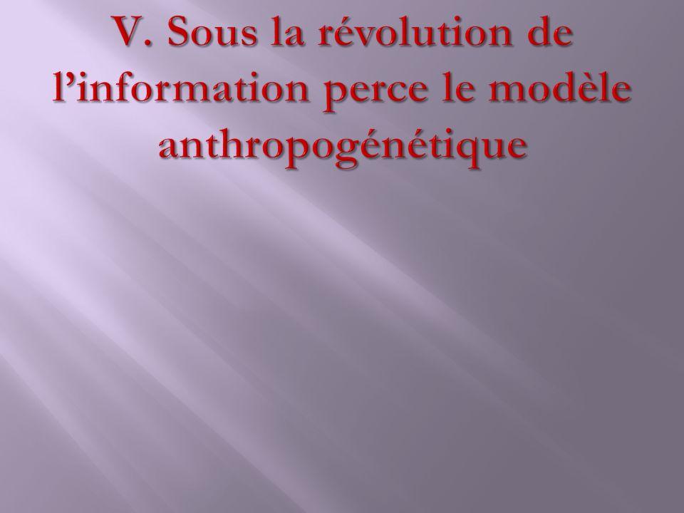 Sous la révolution de l'information perce le modèle anthropogénétique