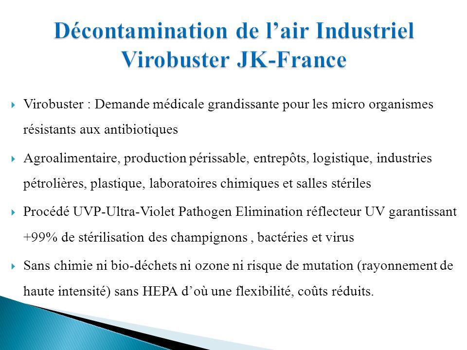 Décontamination de l'air Industriel Virobuster JK-France