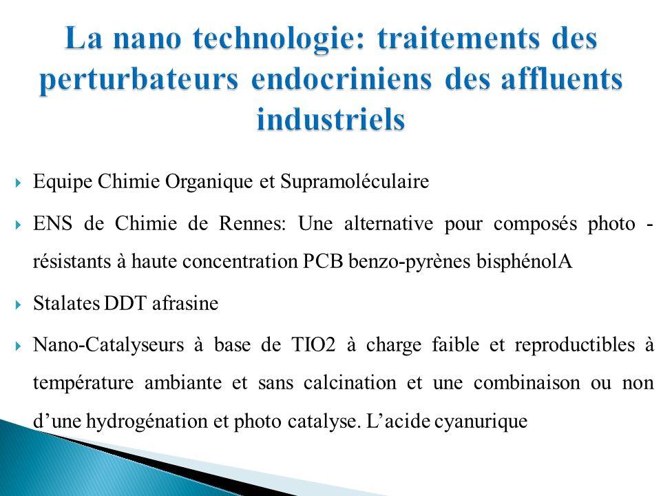 La nano technologie: traitements des perturbateurs endocriniens des affluents industriels