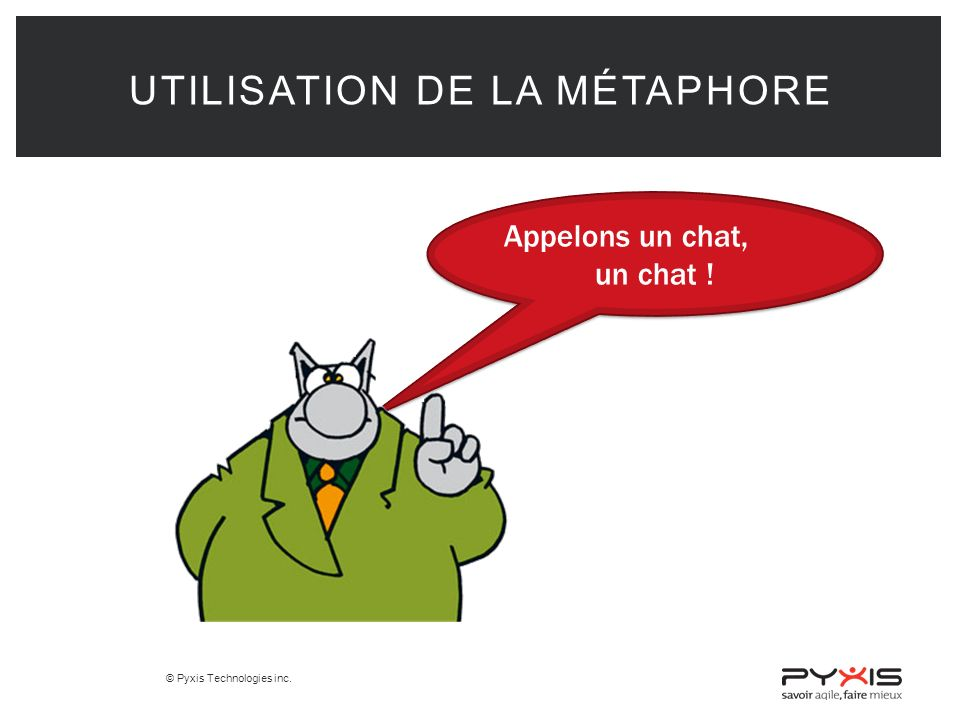 Utilisation de la métaphore
