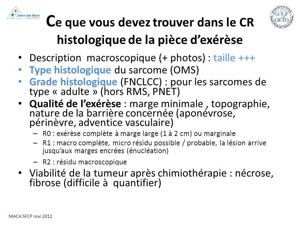 Ce que vous devez trouver dans le CR histologique de la pièce d'exérèse