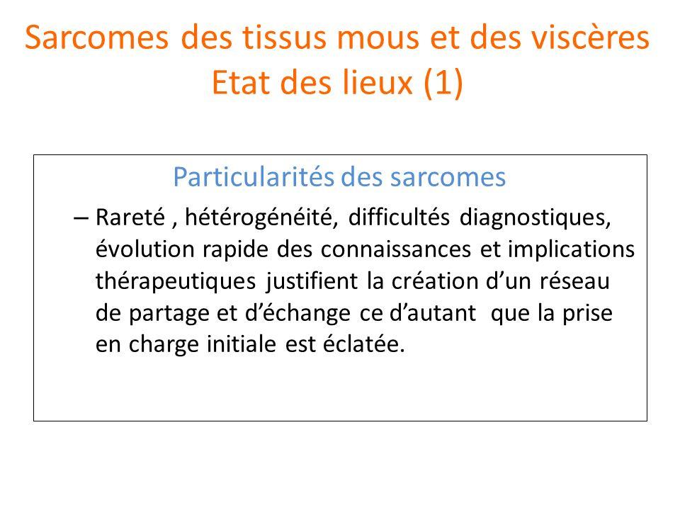 Sarcomes des tissus mous et des viscères Etat des lieux (1)