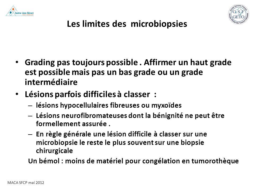 Les limites des microbiopsies