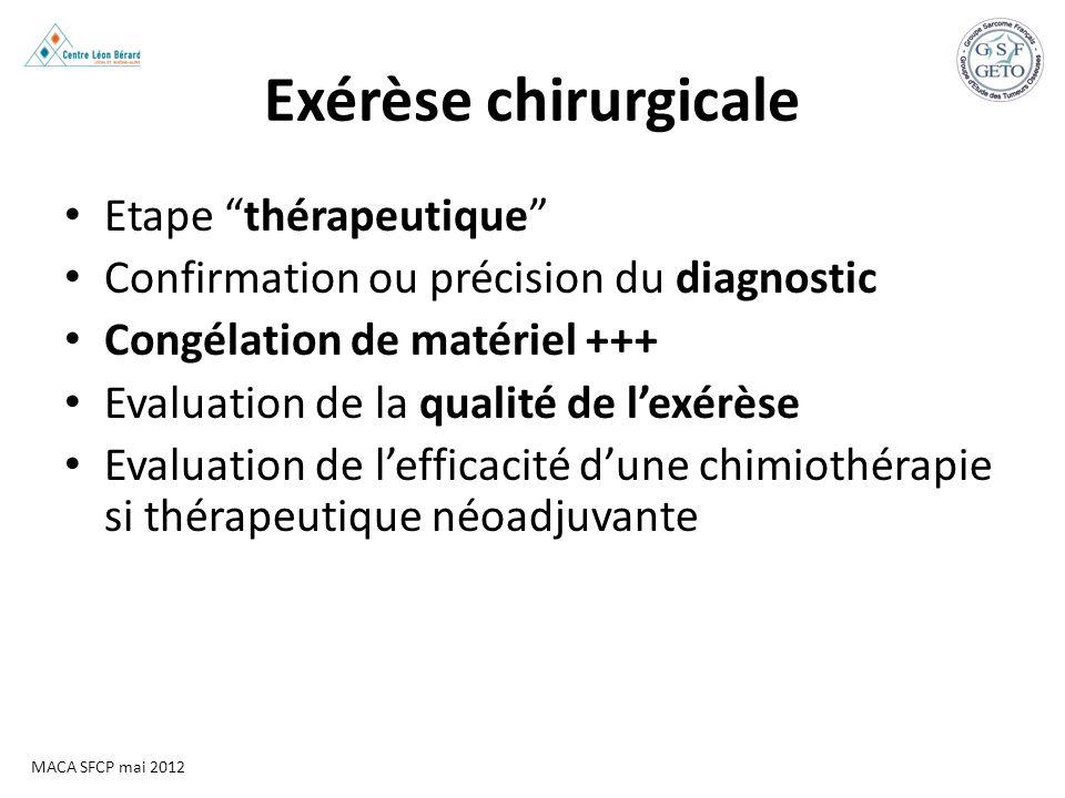 Exérèse chirurgicale Etape thérapeutique