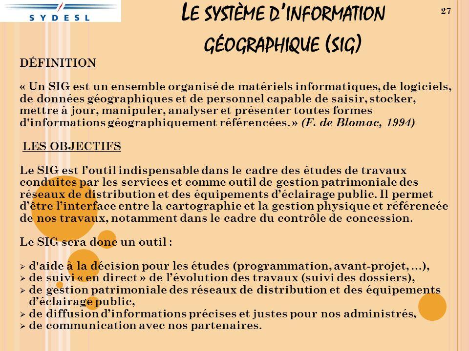 Le système d'information géographique (sig)