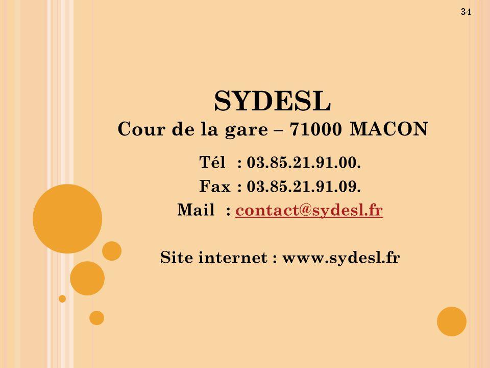 SYDESL Cour de la gare – 71000 MACON