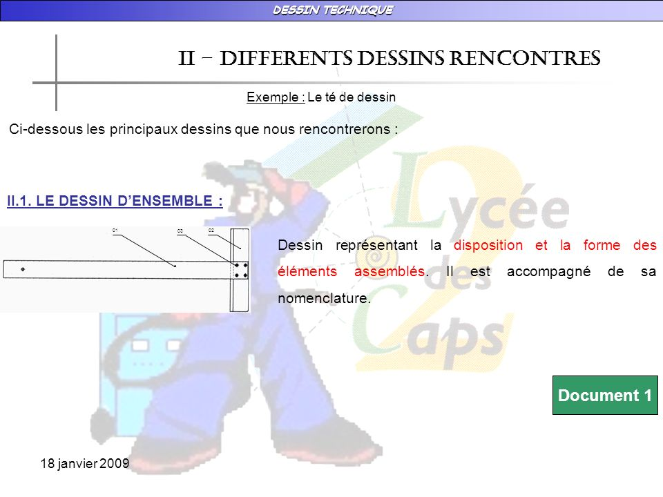 II – DIFFERENTS DESSINS RENCONTRES