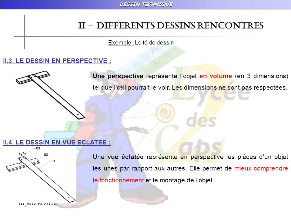 II – DIFFERENTS DESSINS RENCONTRES
