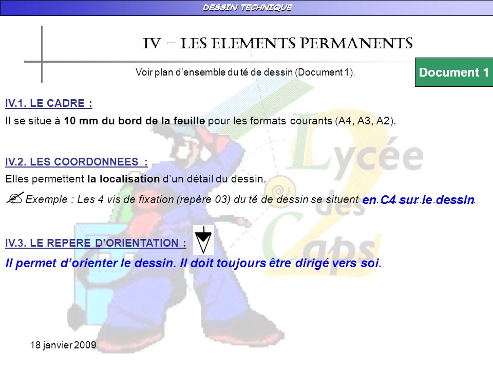 Iv – les ELEMENTS PERMANENTS