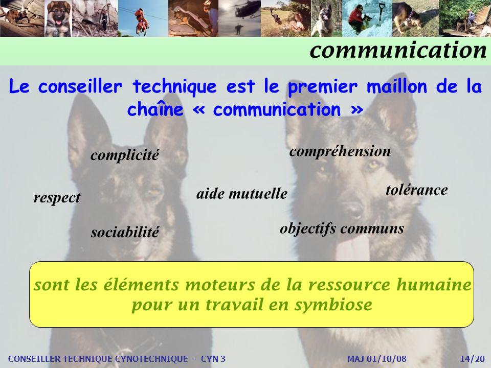 communication Le conseiller technique est le premier maillon de la chaîne « communication » compréhension.