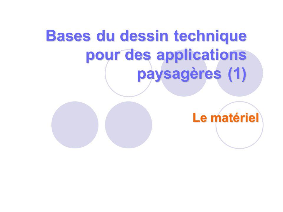 Bases du dessin technique pour des applications paysagères (1)