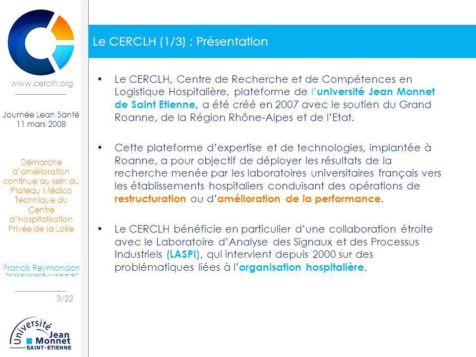 Le CERCLH (1/3) : Présentation