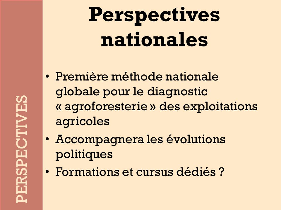 Perspectives nationales