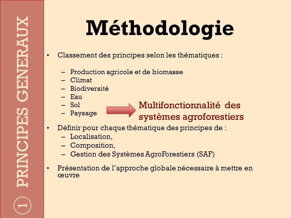 Méthodologie PRINCIPES GENERAUX Multifonctionnalité des