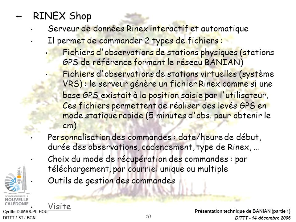 RINEX Shop Serveur de données Rinex interactif et automatique
