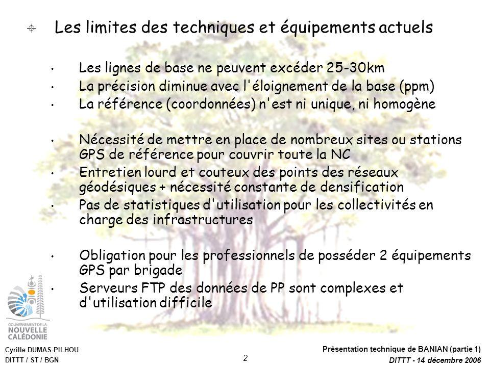 Les limites des techniques et équipements actuels