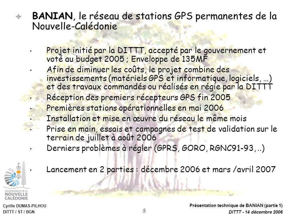 BANIAN, le réseau de stations GPS permanentes de la Nouvelle-Calédonie