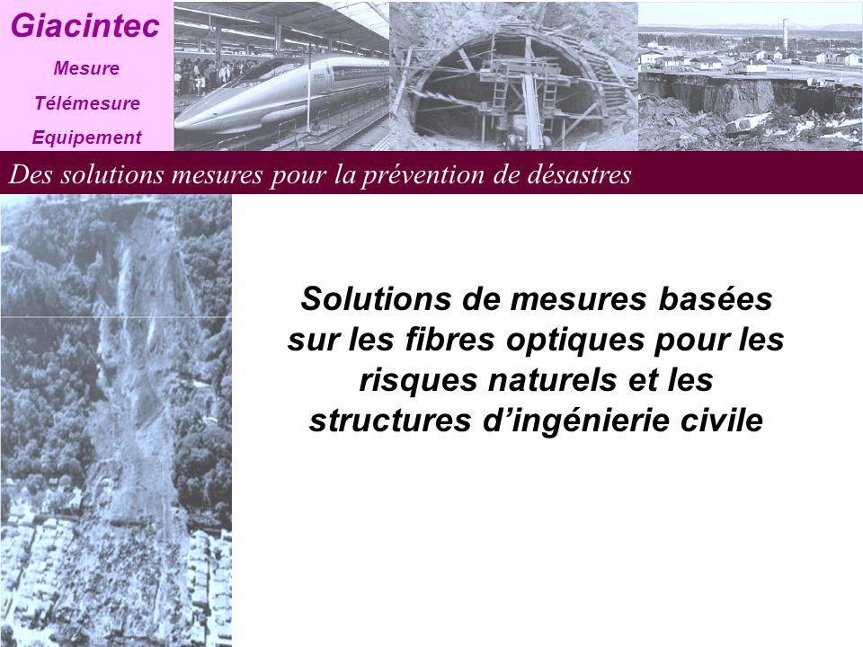 Giacintec Mesure. Télémesure. Equipement. Des solutions mesures pour la prévention de désastres.