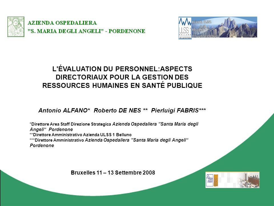 Antonio ALFANO* Roberto DE NES ** Pierluigi FABRIS***