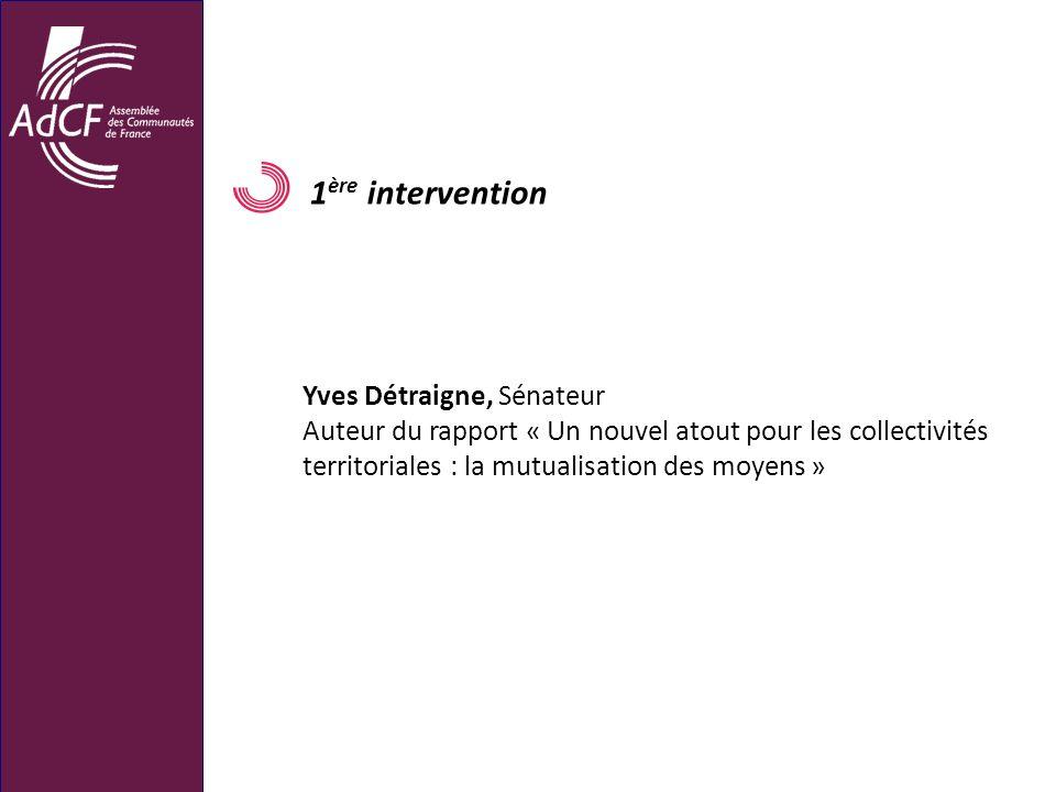 1ère intervention Yves Détraigne, Sénateur