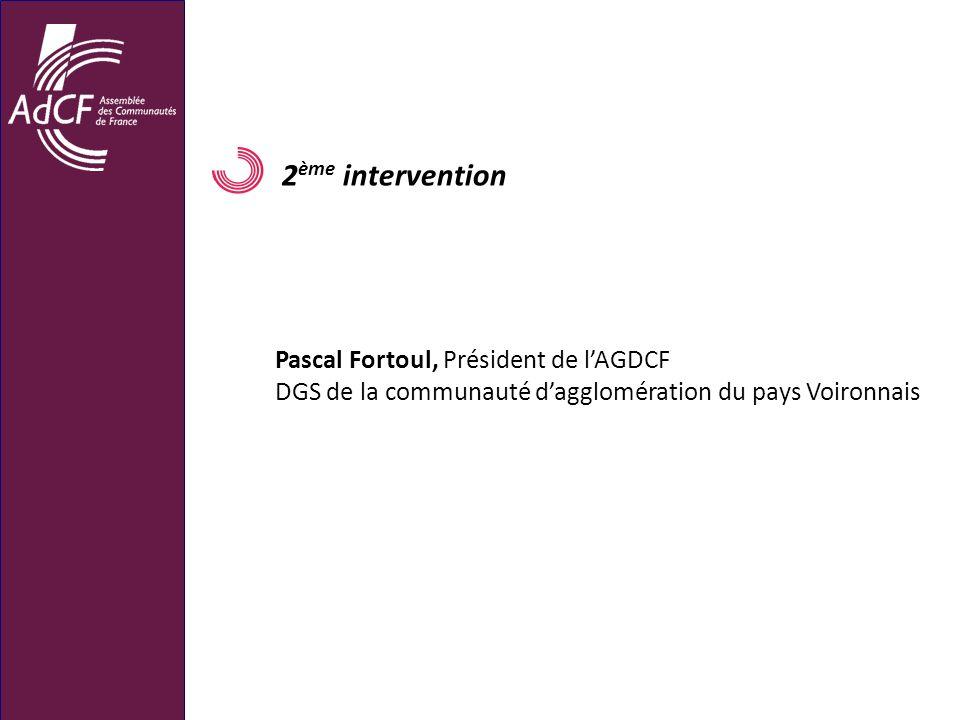 2ème intervention Pascal Fortoul, Président de l'AGDCF