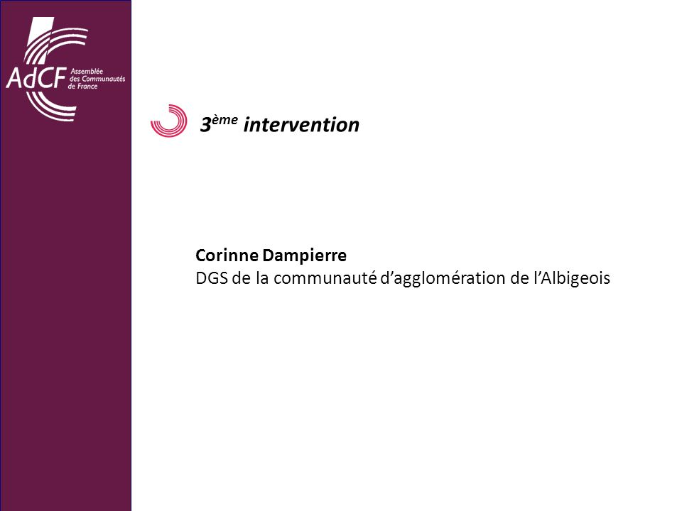 3ème intervention Corinne Dampierre