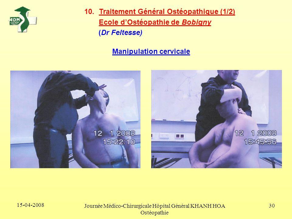 Journée Médico-Chirurgicale Hôpital Général KHANH HOA Ostéopathie
