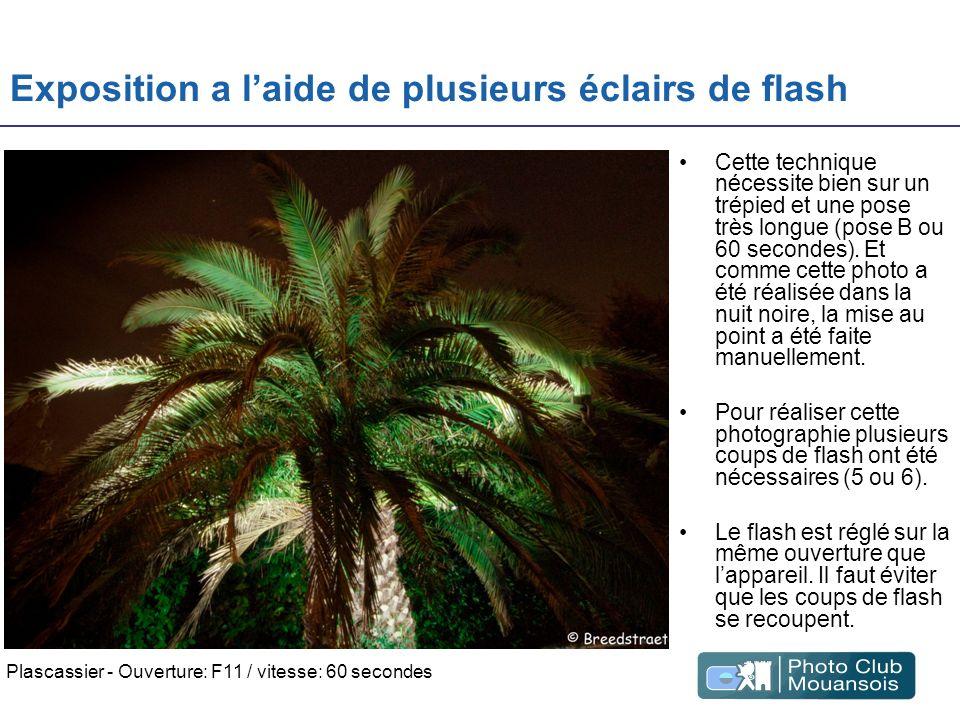 Exposition a l'aide de plusieurs éclairs de flash