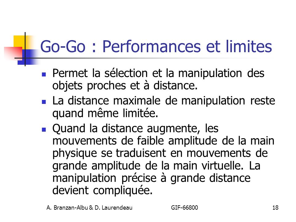 Go-Go : Performances et limites
