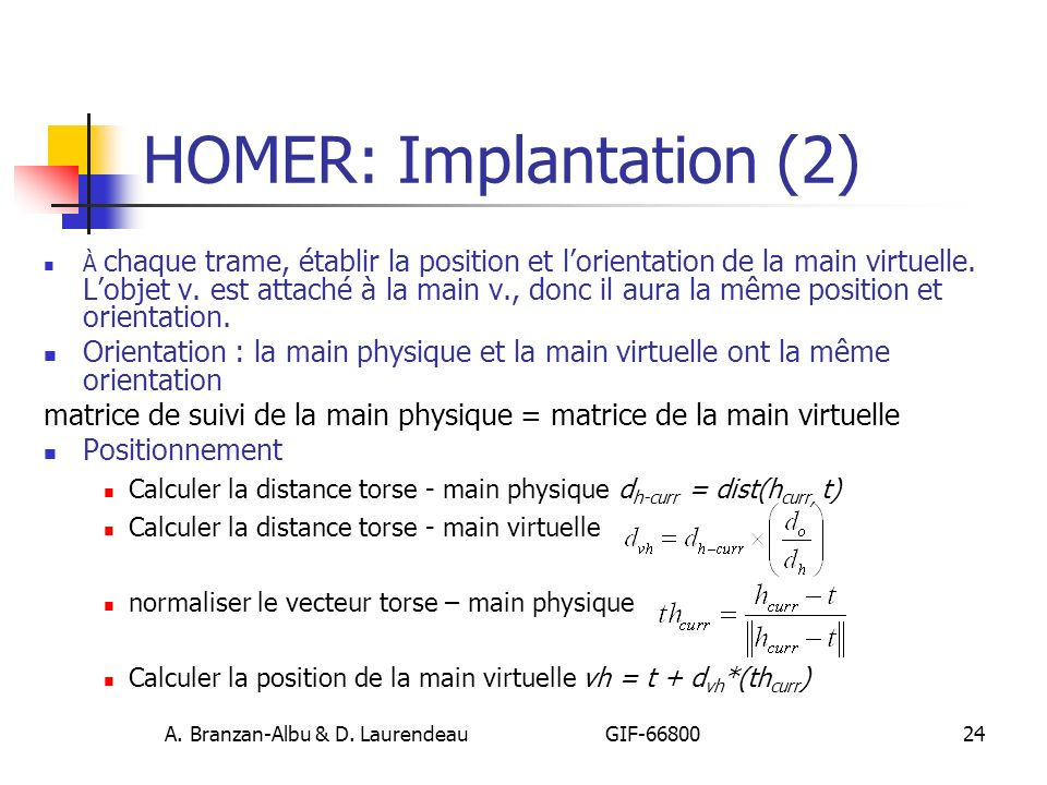 HOMER: Implantation (2)